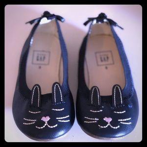 GAP Kids Navy Blue Bunny Flats - Toddler 8 NWOT